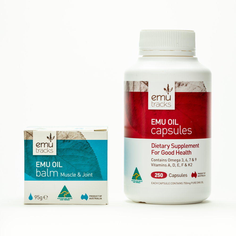 2-Step Pain Relief | Emu Oil Balm & Capsules | ilovenatural.store