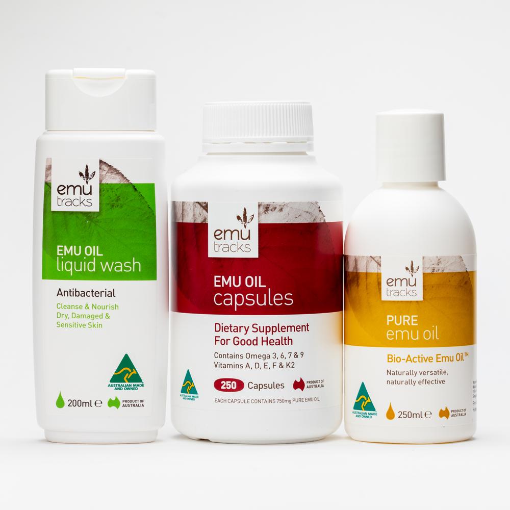 3 steps to Healthy Skin | Emu Tracks Emu Oil Skin Care Package