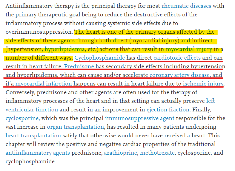 The Effects of Immunosuppressive and Cytotoxic Drugs on the Heart