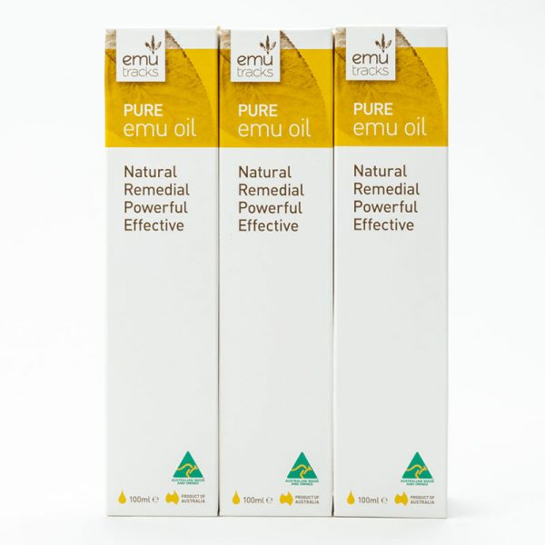 Emu Tracks Pure Emu Oil - 3x 100ml Bundle Deal
